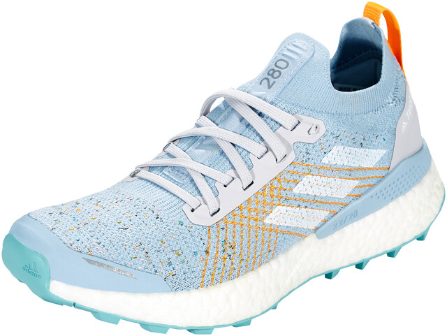 adidas TERREX Two Ultra Parley Zapatillas Trail Running Mujer, dash  grey/footwear white/blue spirit